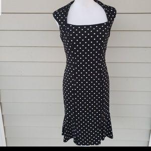 WHITE HOUSE BLACK MARKET polkadot dress, s…